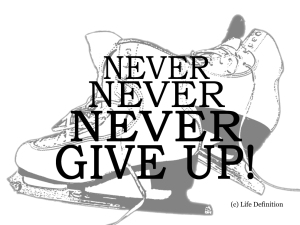 Figure Skating Never Give Up