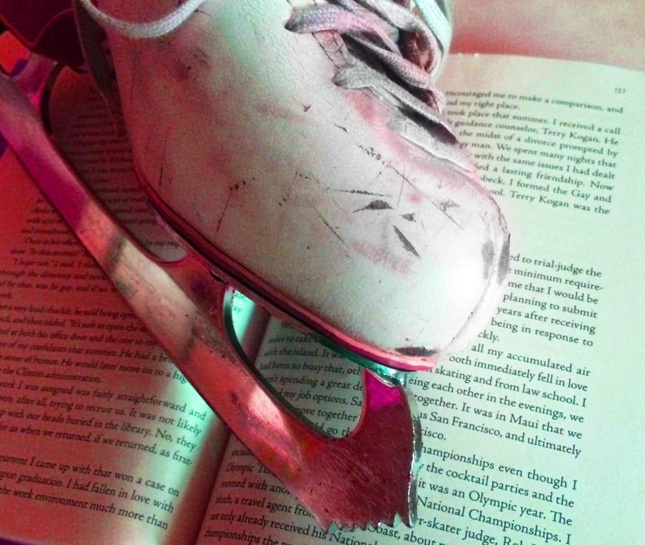 Pink Figure Skate in Book Not Supporting Schools